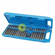 40Pce Hex, Torx & Spline Bit Set With Impact Screwdrivers And Ratchets