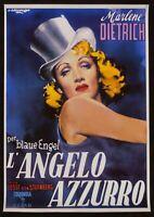 Manifesto Ángel Azul Marlene Dietrich Der Blaue Engel Von Sternberg Audiolibro