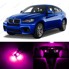 21 x Error Free Pink LED Interior Light Package For 2008 - 2014 BMW X6 + TOOL
