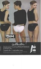 PUBLICITE ADVERTISING 2011 DIM  collector slip soutien gorge par AGNES B