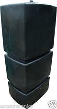 Ecosure 800 Litre Ltr Pillar Large Water Butt Rain Water Harvesting Tank Black