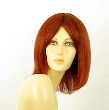 perruque femme 100% cheveux naturel longue cuivré intense ref BAHIA 130