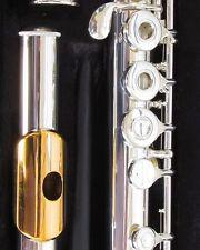 NEW Gemeinhardt 3SHB Silver head Flute, GOLD LIP, Open-Hole, B-foot, inline G