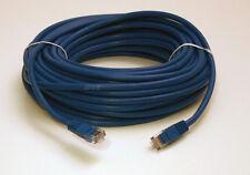 50 ft Foot Ethernet Cat5e Network Cable Gold Plated RJ45 Jack MoldedCopper  Blue
