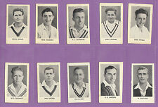 D.C. THOMSON (WIZARD) - SET OF 18  WORLD'S  BEST  CRICKETERS  CARDS  -  1956
