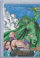 Upper Deck Marvel Guardians of the galaxy Sketch Card GAMORA 95 J.D. Hill