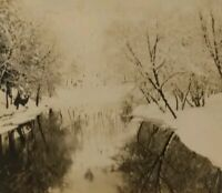Artistic LEHIGH GAP Pennsylvania Real Art Photo Postcard RPPC Winter View Vtg