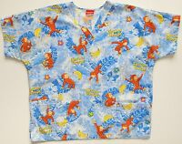 Curious George Scrub Nurses Curious George Print Top Sz L