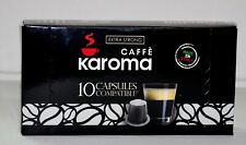 10 Capsules Compatible Nespresso machines! (Extra Strong ) 2-3 Day New Karoma!