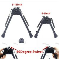 6,9,13inch Harris Bipods Adjustable Tactical Stabilzer 50Degree Swivel & Adapter