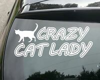 Crazy Cat Lady Funny Van/Car JDM VW DUB VAG EURO Vinyl Decal Sticker