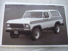 1979   FORD BRONCO    11 X 17  PHOTO  PICTURE