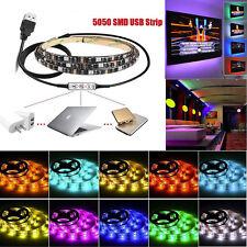 2M Multicolour RGB LED Strip Light + USB Cable 5V LED TV Background Lighting Kit