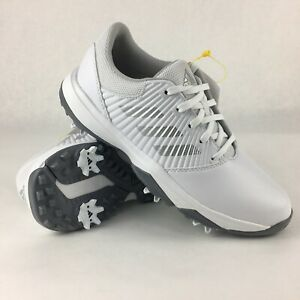 Adidas Junior CP Spiked Bounce Sport Golf Shoes Shoes Size 4 White