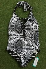 New Seafolly Mandala Lace Up Maillot in Black - Size AU12 / US8