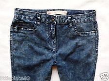 BNWT NEXT NEW Ladies Skinny mid rise dark blue acid wash jeans size 12 L