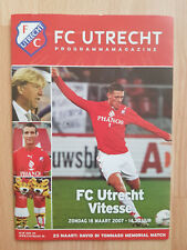 Programme / Programma FC Utrecht v Vitesse Arnhem 18-03-2007