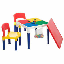 LENOXX 2 in 1 Creative Building Block Activity Play Table and Chairs
