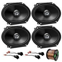"6x8"" JVC Car Audio 300W Coaxial Speakers,Speaker Wire,98-UP FORD Speaker Harness"