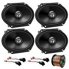"6x8"" JVC Car Audio 300W Coaxial Speakers,Speaker Wire,98-UP FORD Speaker Harness"