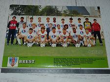 CLIPPING POSTER FOOTBALL 1984-1985 STADE BRESTOIS BREST 29 FRANCIS-LE BLE
