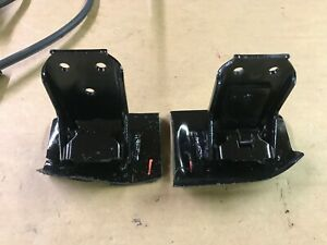 87-93 Ford Mustang Door Hinge Brackets w/ Pins Tension Spring Rust Repair OEM