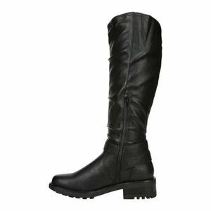W315 Carlos Santana Black Sabina Knee High Boots