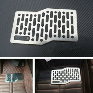 Car Floor Mats Stainless Steel Heel Plate Anti-slip Carpet Shoe Pedal Universal