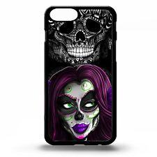 Sugar Skull girl gothic skeleton dia de los muertos tattoo art phone case cover