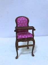Dollhouse miniature Hand-made  Baby High Chair