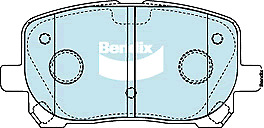 Brake Disc Pad Set Front Bendix DB1487 GCT For TOYOTA AVENSIS VERSO NOAH VOXY