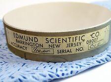 "EDMUND SCIENTIFIC 696099-50  3""  CIRCULAR PRECISION OPTICAL FLAT MIRROR 1/10w"