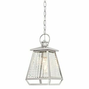Westinghouse 6357600 Aurelie One-Light Outdoor Pendant with Nickel Luster Finish