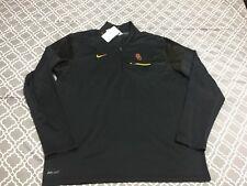 New Men's Nike USC Football 1/3 Zip Pullover Jacket Dri-fit Gray X-Large XL $80