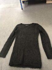 Black Fluffy Jumper Size 16 Bnwt