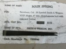 NOS USGI Main Spring for Smith&Wesson S&W Model 10, .38 SPL Revolver