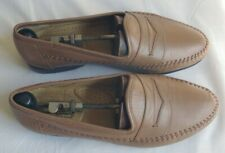 Men's Preowned Santoni Brown Leather Loafers! Size: 8.5 EE w/shoe trees