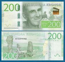 Sweden 200 Kronor P 72 New 2015 UNC Low Shipping! Combine FREE!