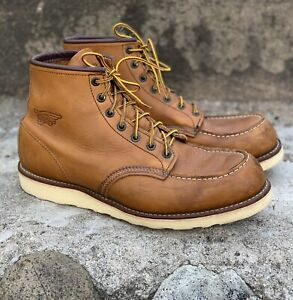 Red Wing 875 Moc Toe Boots USA 100% AUTHENTIC US12 2E