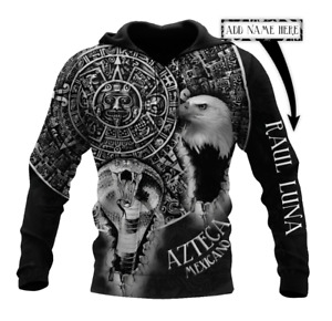 Black & White Aztec Mexican Customize 3D All Over Printed Hoodie For Men S-5XL