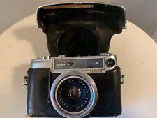 VINTAGE YASHICA minister-D 35 mm FILM CAMERA W/ LEATHER CASE