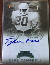 2008 Press Pass Legends EARL CAMPBELL AUTO Inscription Inscribed TYLER ROSE /22