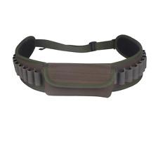 Shotgun Shooter's Bag with Pouch 25 Shells Canvas Green Belt Cartridge Holder