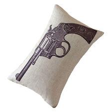 Decorative Pillow Cover Linen Cool simple Gun Pistol print cushion case 30*50cm