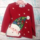 Santa Claus Ugly Christmas Sweater Girls 5 Jeweled Embroidered Candy Cane Tiara