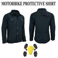 Motorbike Motorcycle Shirt Jacket Aramid Lined Protection With CE Armur Biker UK