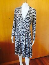 Diane Von Furstenberg-Silk Mix Wrap Dress-Size 6