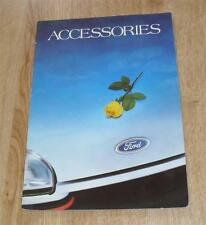 ACCESSORI FORD opuscolo circa 1986 Inc RS bodykits
