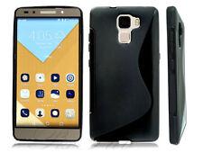 Étuis, housses et coques noirs Huawei en silicone, caoutchouc, gel pour téléphone mobile et assistant personnel (PDA)