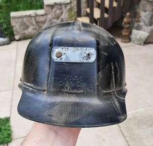 Vintage MSA Low Vein Comfo Cap Coal Mining Hat Helmet Miners Hat L2